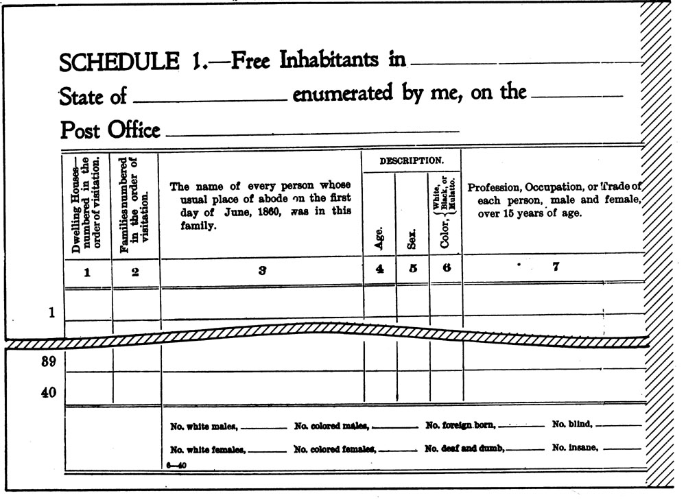 Scanned image of Enumeration Form