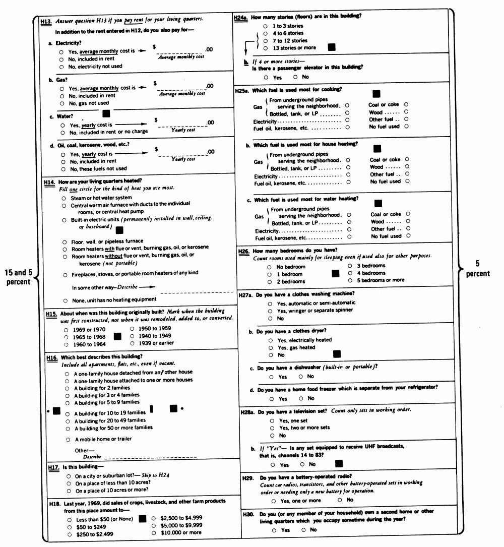 Ipums Usa 1970 Enumeration Form