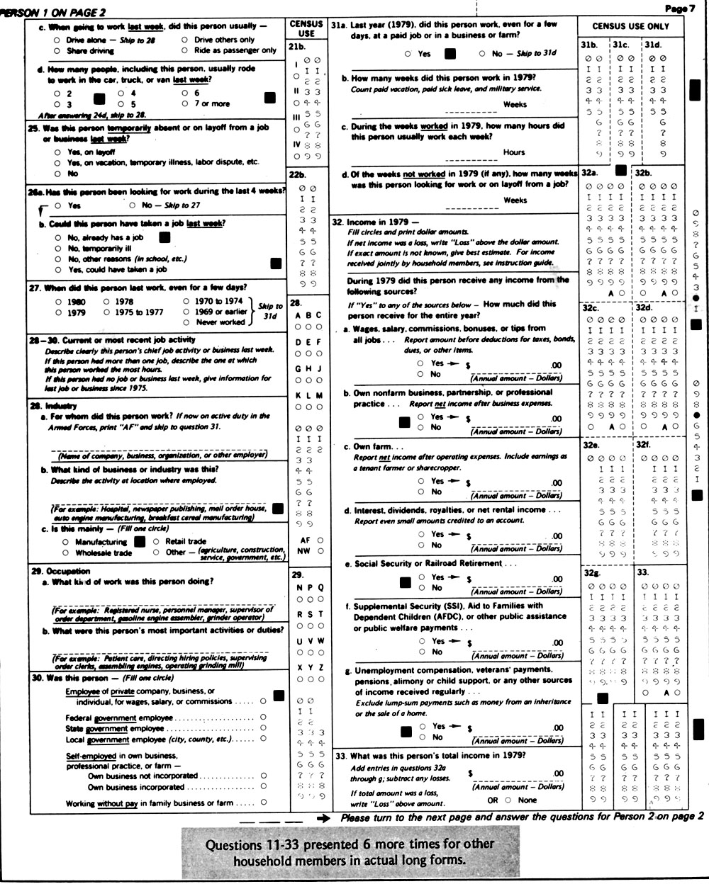 Scanned image of EnumerationForm
