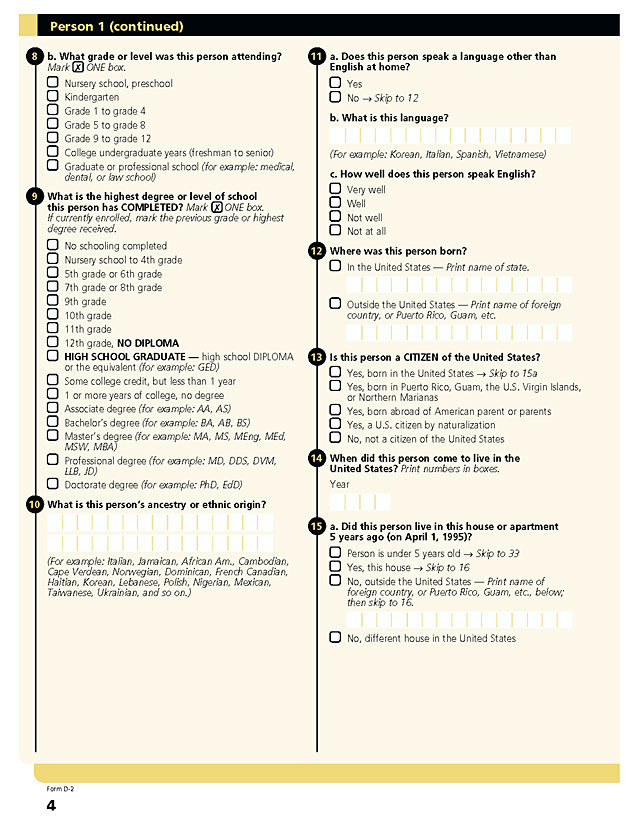 ipums usa enumeration form 2000 enumeration form